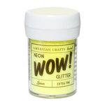 American Crafts - Wow! Neon Glitter - Extra Fine - Lemon