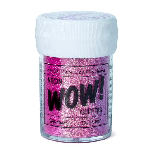 American Crafts - Wow! Neon Glitter - Extra Fine - Geranium