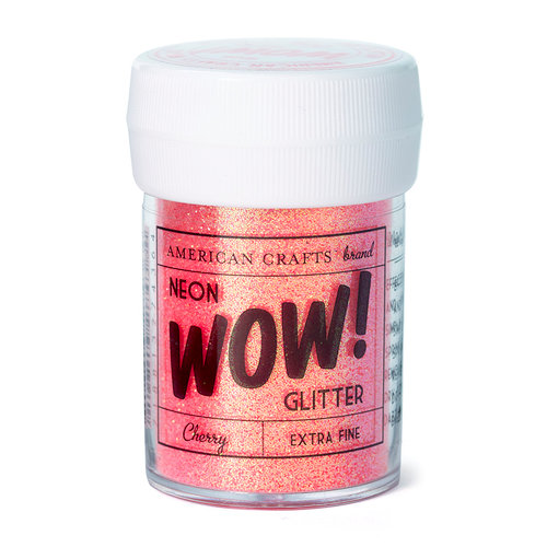 American Crafts - Wow! Neon Glitter - Extra Fine - Cherry