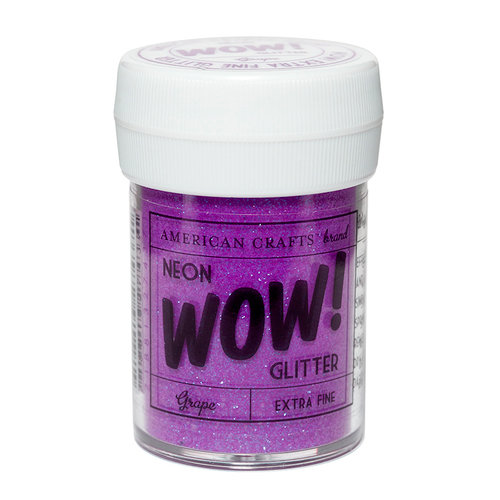 American Crafts - Wow! Neon Glitter - Extra Fine - Grape