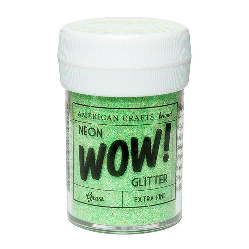 American Crafts - Wow! Neon Glitter - Extra Fine - Grass