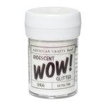 American Crafts - Wow! Iridescent Glitter - Extra Fine - White