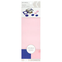 K and Company - Paper Strip Pack - Double Sided - Cobalt Pink - 24 Sheets