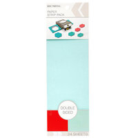 K and Company - Paper Strip Pack - Double Sided - Red Aqua - 24 Sheets