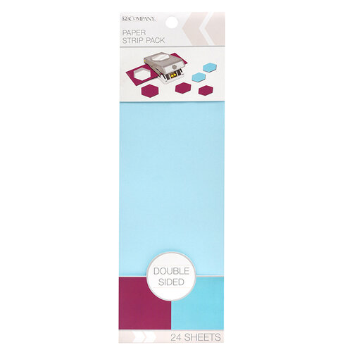 K and Company - Paper Strip Pack - Double Sided - Sky Blue Plum - 24 Sheets