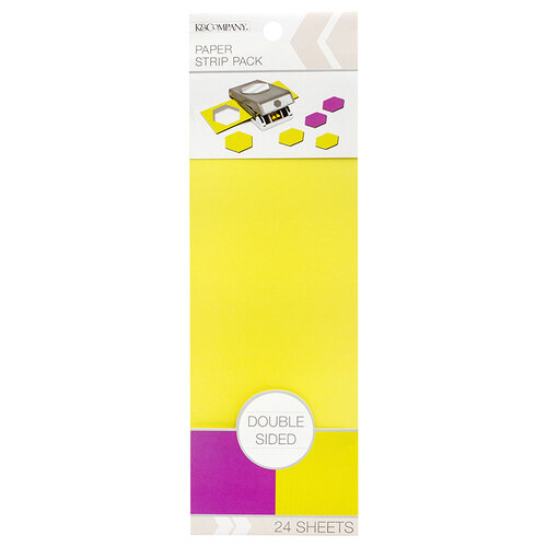 K and Company - Paper Strip Pack - Double Sided - Lavender Pear - 24 Sheets
