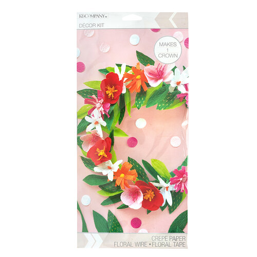 K and Company - Paper Crafting Kit - Bright Floral Crown