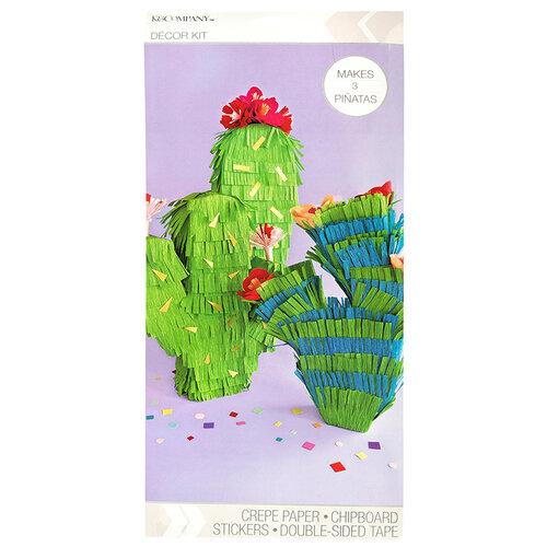 K and Company - Paper Crafting Kit - Cactus Mini Pinatas