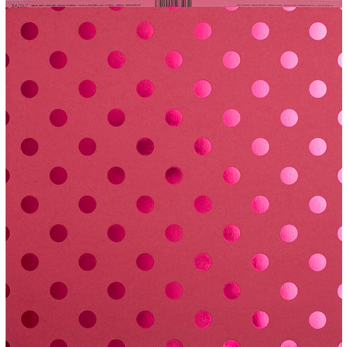 Bazzill Basics - 12 x 12 Cardstock - Foil Tone On Tone - Lollipop