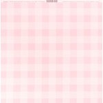 Bazzill Basics - 12 x 12 Plaid Cardstock - Cotton Candy
