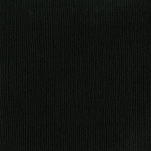 Bazzill Basics - 12 x 12 Mono Adhesive Cardstock - Raven