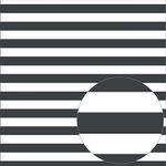 Bazzill Basics - 12 x 12 Acetate Paper - Stripes - Raven