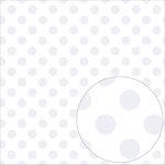 Bazzill Basics - 12 x 12 Acetate Paper - Dots - White