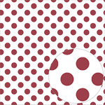 Bazzill Basics - 12 x 12 Acetate Paper - Dots - Pomegranate