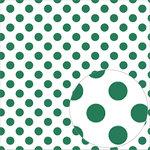 Bazzill Basics - 12 x 12 Acetate Paper - Dots - Bazzill Green