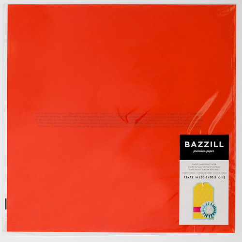Bazzill Basics - 12 x 12 Plastic Embossing Paper - Cherry Cordial