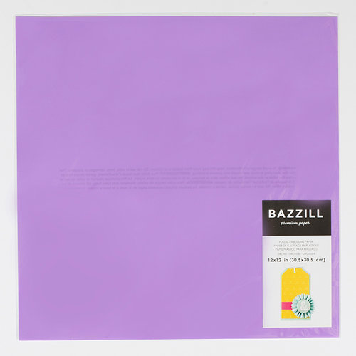 Bazzill Basics - 12 x 12 Plastic Embossing Paper - Orchid