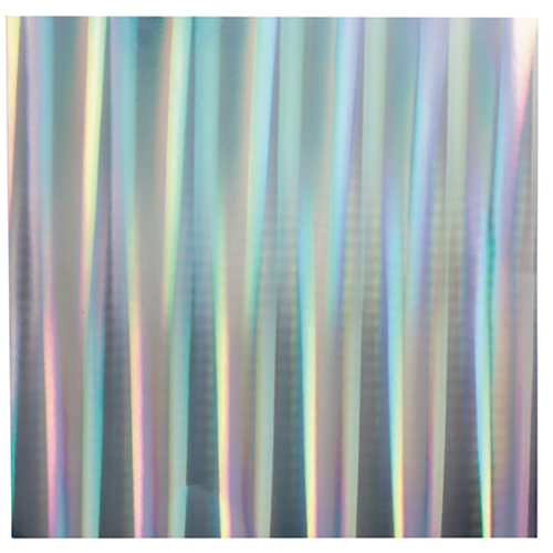 Bazzill Basics - 12 x 12 Foil Board - Holographic Silver