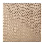 Bazzill Basics - 12 x 12 Kraft Paper With Foil Accents - Lattice