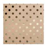 Bazzill Basics - 12 x 12 Kraft Paper With Foil Accents - Dots