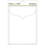 Bazzill Basics - Cards and Envelopes - 5 x 7 - White - Scalloped