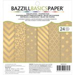 Bazzill Basics - 6 x 6 Cardstock Paper Pad - Kraft Cardstock With Foil Accents
