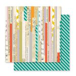 Pink Paislee - Memorandum Collection - 12 x 12 Double Sided Paper - Time Clock