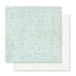Pink Paislee - Memorandum Collection - 12 x 12 Double Sided Paper - Punch Card