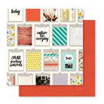Pink Paislee - Memorandum Collection - 12 x 12 Double Sided Paper - Cubicle