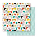 Pink Paislee - Memorandum Collection - 12 x 12 Double Sided Paper - Memo