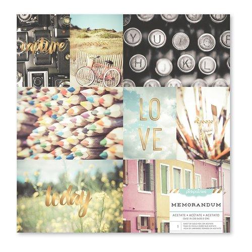 Pink Paislee - Memorandum Collection - 12 x 12 Acetate Paper with Foil Accents - Photos