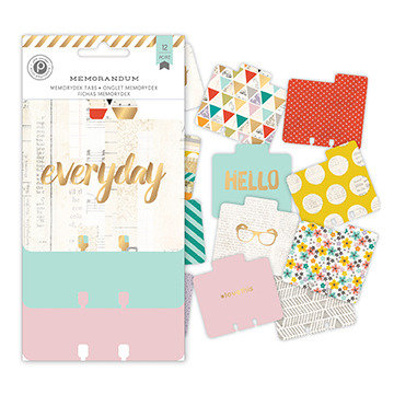 Pink Paislee - Memorandum Collection - Memorydex - Cards with Foil Accents - Everyday