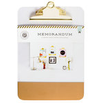 Pink Paislee - Memorandum Collection - Clear Clipboard