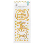 Pink Paislee - Memorandum Collection - Puffy Stickers - Gold