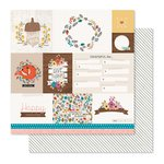 Pink Paislee - Cedar Lane Collection - 12 x 12 Double Sided Paper - Market Square