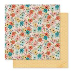 Pink Paislee - Cedar Lane Collection - 12 x 12 Double Sided Paper - Cedar Lane