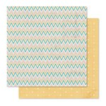 Pink Paislee - Cedar Lane Collection - 12 x 12 Double Sided Paper - Park Place
