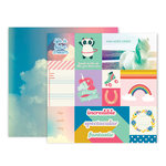 Pink Paislee - Wild Child Collection - 12 x 12 Double Sided Paper - Paper 1