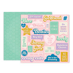 Pink Paislee - Wild Child Collection - 12 x 12 Double Sided Paper - Paper 2