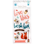 Pink Paislee - Cedar Lane Collection - Puffy Stickers