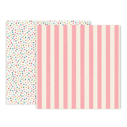 Pink Paislee - Wild Child Collection - 12 x 12 Double Sided Paper - Paper 4