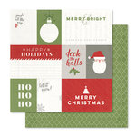 Pink Paislee - Yuletide Collection - Christmas - 12 x 12 Double Sided Paper - Deck The Halls