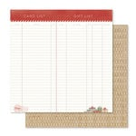 Pink Paislee - Yuletide Collection - Christmas - 12 x 12 Double Sided Paper - Makin A List