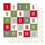 Pink Paislee - Yuletide Collection - Christmas - 12 x 12 Double Sided Paper - Countdown
