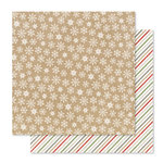 Pink Paislee - Yuletide Collection - Christmas - 12 x 12 Double Sided Paper - Snowfall