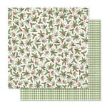 Pink Paislee - Yuletide Collection - Christmas - 12 x 12 Double Sided Paper - Mistletoe