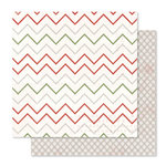 Pink Paislee - Yuletide Collection - Christmas - 12 x 12 Double Sided Paper - Frosty