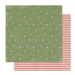 Pink Paislee - Yuletide Collection - Christmas - 12 x 12 Double Sided Paper - Wrapping Paper