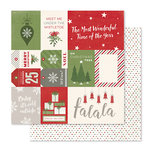 Pink Paislee - Yuletide Collection - Christmas - 12 x 12 Double Sided Paper - Baked Goods