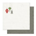 Pink Paislee - Yuletide Collection - Christmas - 12 x 12 Double Sided Paper - Jingle Bells